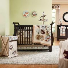 Forest Friends Baby Crib Bedding Set by Kidsline - includes bumper $179