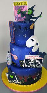 Broadway Cake by Amanda Oakleaf Cakes, via Flickr