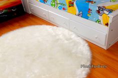 30 white faux fur rug round luxury plush new by visit our website
