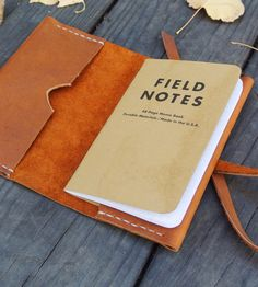 Brown Leather Notebook Cover, a little taller for travel (tickets, maps, etc)