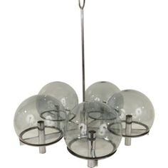 Check out this item at One Kings Lane! 1970s Smoked Glass Chandelier