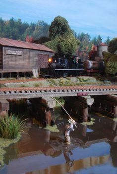 Pudding River Lumber Company - Slough and Freight House - On30 Modular RR by Kevin Spady