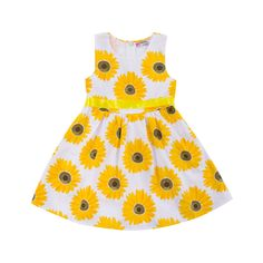 Sunflower Sweetheart Dress, 52.7% discount @ PatPat Mom Baby Shopping App