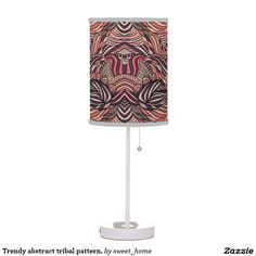 Trendy abstract tribal pattern. table lamp  Trendy abstract tribal pattern. For home design and decor. Beautiful home accessories ideas. Luxury elegant style.