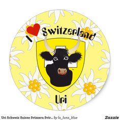 Uri Schweiz Suisse Svizzera Svirza Kleber Runder Aufkleber