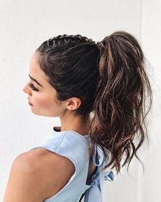 Olivia Culpo high braided ponytail + 9 ponytails for every occasion