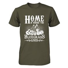 Bluegrass Lovers T-shirt One-of-a-kind Can't live without that sweet banjo sound? Perfect to show your pride out at your next jam or bluegrass music festival.  Unique design, only available for purchase HERE! Get yours today!