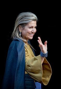 Queen Maxima of the Netherlands at the new year reception at the royal palace on January 17, 2017 in Amsterdam, Netherlands.