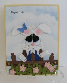 Easter Bunny using punches.  Numerous punch art in here.