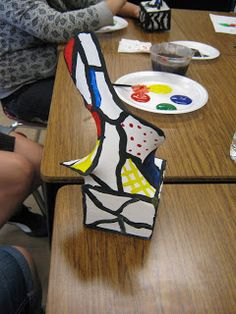 Tales from the Traveling Art Teacher!: DeBuffet Sculptures with 6th Grade