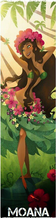 Concept Art for the upcoming Disney film, Moana. The main character will be a polynesian princess. Floral Illustrations, Botanical Illustration, Illustration Art, New Disney Princesses, Disney Films, Run Disney, Disney Fan Art, Disney 10k, Moana Disney