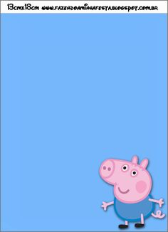 Convite George Pig (Peppa Pig):