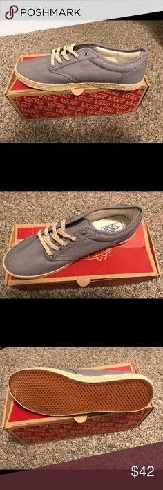 Brand New Shoes by Vans These are brand new and never worn.  They are a size 10. They list for $57 on the Vans Website. Vans Shoes