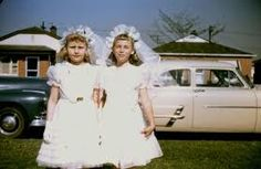 Communion dresses - my sisters and I looked just like this on our First Communion Day. repinned by judithhall