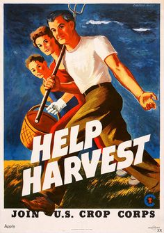 America   WW2  The draft and the mobilization of workers into around-the-clock shifts of wartime factory jobs left a dire shortage of farmworkers, especially at harvest time.
