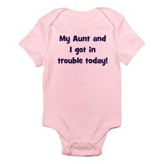"IF THIS WAS AROUND WHEN MY ""BABIES"" WERE BORN I SOOO WOULD HAVE BOUGHT THIS N ALL DIFFERENT SIZES 4 THEM 2 KEEP WEARING... I LOVED GETTING N2 ""TROUBLE"" WITH THEM =D... I WOULD'VE FOUND A WAY 2 MAKE AUNT N2 BUBBY LOL"