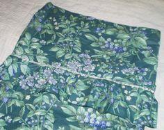 Vintage Laura Ashley Bramble Berry Fabric Shower Curtain Fabric Valance Ruffled Top Shabby Chic Cottage Decor