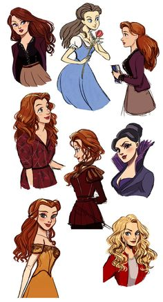 OUAT ladies by Vestergaard on DeviantArt