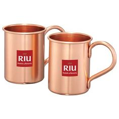 The Moscow Mule Mug Gift Set is inspired by the popular Moscow Mule cocktail. Aluminum construction with full copper coating. Gift box features a robust history of the cocktail and a recipe card is included. Each mug is 14oz. #promotional #products