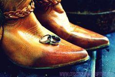 #cowboy, #boots #wedding #rings