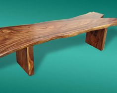 Live Edge Dining Table Reclaimed Solid Slab Acacia Wood by flowbkk