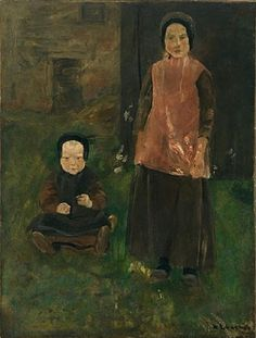 Max Liebermann - Two Dutch Girls (1882)