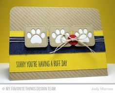 Blueprints 23 Die-namics, Inside & Out Stitched Rounded Square STAX Die-namics, Pet Accents Die-namics, BB You Make My Tail Wag Stamp Set, Diagonal Stripes Background - Jody Morrow  #mftstamps