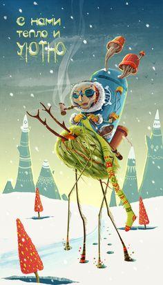 New Year Socks by Olesja Kisser, via Behance