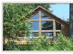 & Hive& Luxury Mountain Log Home Shawnee Peak / Moose PondVacation Rental in Bridgton from Vacation Rental Sites, Dream Vacations, Shawnee Peak, Wedding Stress, Decks And Porches, Bedroom Loft, Home And Away, Log Homes, Pond