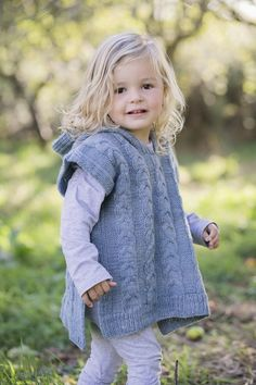A few months ago, Mary Furness-Weir of Maniototo Wool, approached me to help her design a child's poncho. I was intrigued by the concept that she suggested, and thought it would be a nice cha… Toddler Poncho, Girls Poncho, Crochet Toddler, Crochet For Kids, Kids Dress Clothes, Poncho Knitting Patterns, Knitted Baby Cardigan, Make Your Own Dress, Child