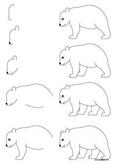 wie zeichnen lernen Schritt für Schritt wie ein Bär mit einfachen Schritt zeichnen Schritt-für-Anweisungen 3867