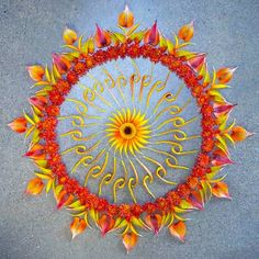 Danmala Mandalas: Elegant, Intricate Circles Made From Nature by Kathy Klein via jeannie jeannie