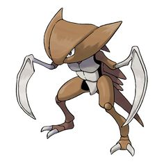 Kabutops - 141 - In the water, it tucks in its limbs to become more compact, then it wiggles its shell to swim fast. A slim and fast swimmer. It slices its prey with its sharp sickles and drinks the body fluids.  @PokeMasters