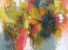 Garden Abstraction pastel on sanded paper by Debora L. Stewart