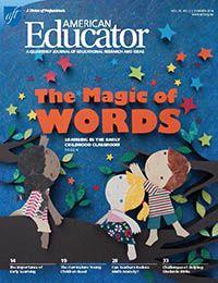 American Educator, Summer 2014 cover