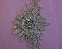Hot Fix Crystal Appliqué In AB Silver Silver or от allysonjames
