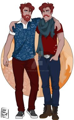 Soran and Gören are twins. Naughty and funny love to bullying their younger brother, Hans.  They love action movies and Ouran Host Club ;) When they meet with Harris, Hubert and Hamish (Merida´s little brothers) they are a real problem! Disney University - Goran y Soren by Hyung86