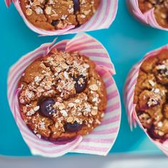 Blueberry and Cinnamon Breakfast Oaty Muffins