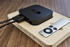The Handmade Wooden Docking Station for Apple TV