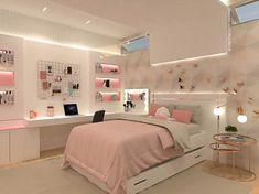 Small Room Design Bedroom, Bedroom Decor For Teen Girls, Girl Bedroom Designs, Room Ideas Bedroom, Home Room Design, Teenage Room Decor, Study Room Decor, Teen Girl Bedrooms, Stylish Bedroom