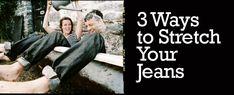 3 Ways to Stretch Your Jeans @Eat, Sleep, Denim