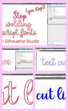 Forgot to weld your text before you cut? Silhouette Studio has your back. In the latest version of Silhouette Studio - Silhouette Cameo 2, Silhouette School Blog, Silhouette Fonts, Silhouette Cameo Tutorials, Silhouette Cutter, Silhouette Portrait, Silhouette Machine, Silhouette Projects, Record Storage