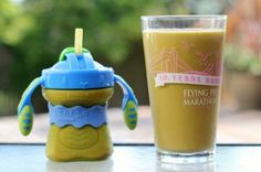 A kid-friendly smoothie recipe filled with healthy fruits, veggies, and fats!  Drink up!