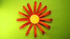 How to make a paper flower?  Easy craft for kids