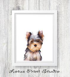 Puppy Print Yorkshire Terrier Poster Digital DownloadKids
