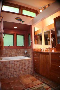 Kohler greek- insulated with high density spray foam Small Bathroom, Master Bathroom, Bathrooms, Small Soaker Tub, Spray Foam, Bath Ideas, Corner Bathtub, Greek, Contemporary