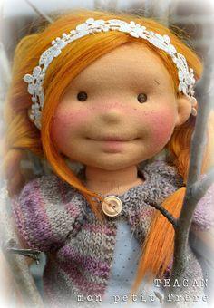 Teagan-handmade doll by Mon Petit Frere #monpetitfrere #naturalfiberartdoll