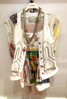 Elisa Cavaletti top £95.00 Elisa Cavaletti jacket £165.00 Part Two vest &14.95 Elisa Cavaletti necklace £59.95