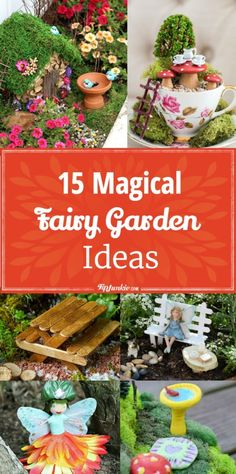 15 Magical Fairy Garden Ideas [DIY] is part of Mini garden DIY - Fairy garden ideas to add magic and whimsy to your home! Fun for kids and adults Mini Fairy Garden, Fairy Garden Houses, Fairy Gardening, Fairies Garden, Container Fairy Garden, Kitchen Gardening, Gnome Garden, Diy Garden Projects, Garden Crafts