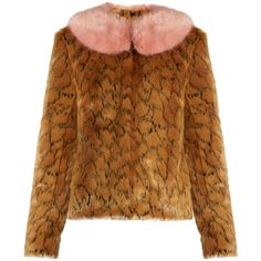 Shrimps Fifi leopard-print faux-fur jacket ($420) ❤ liked on Polyvore featuring outerwear, jackets, leopard, fake fur jacket, leopard print jackets, animal print jacket, faux fur leopard jacket and polka dot jacket
